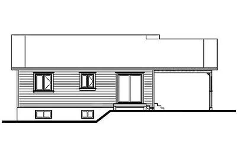 Cottage Exterior - Rear Elevation Plan #23-107 - Houseplans.com