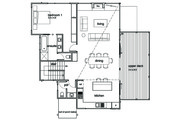 Modern Style House Plan - 3 Beds 2.5 Baths 2282 Sq/Ft Plan #496-21