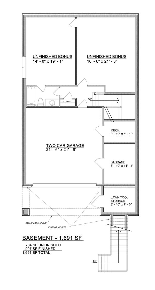 Home Plan - Partially Finished
