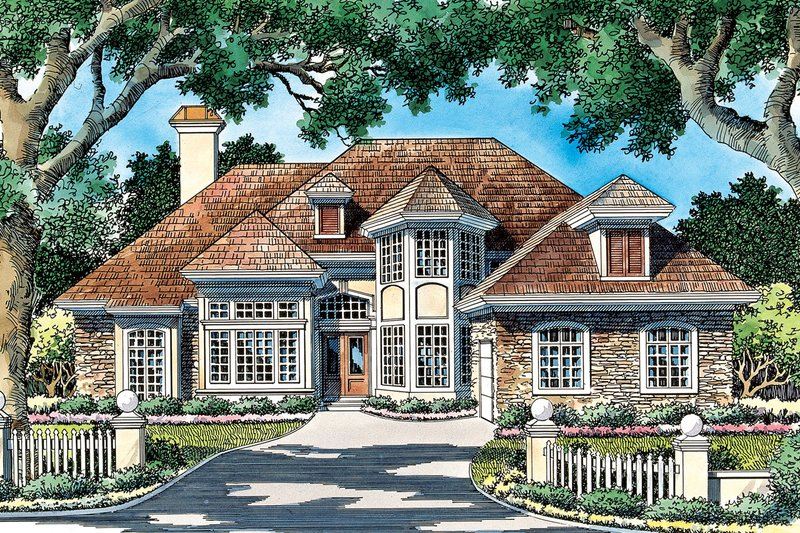 Dream House Plan - Traditional Exterior - Front Elevation Plan #930-90