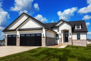 Home Plan - Ranch Exterior - Front Elevation Plan #70-1477