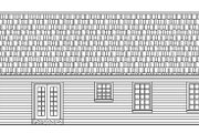 Ranch Style House Plan - 3 Beds 2 Baths 1488 Sq/Ft Plan #21-125 Exterior - Rear Elevation