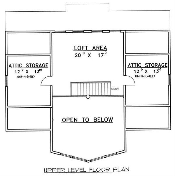 Bungalow Floor Plan - Upper Floor Plan Plan #117-542
