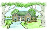 European Style House Plan - 3 Beds 2 Baths 1428 Sq/Ft Plan #36-318 Exterior - Front Elevation