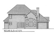 Traditional Style House Plan - 4 Beds 2.5 Baths 2249 Sq/Ft Plan #70-353 Exterior - Rear Elevation