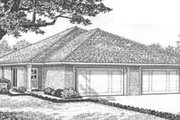 Traditional Style House Plan - 2 Beds 2 Baths 2416 Sq/Ft Plan #310-439 Exterior - Front Elevation