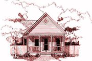 Cottage Style House Plan - 2 Beds 1 Baths 955 Sq/Ft Plan #79-103 Exterior - Front Elevation