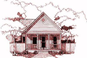 Cottage Exterior - Front Elevation Plan #79-103