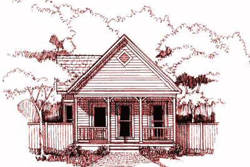 House Blueprint - Cottage Exterior - Front Elevation Plan #79-103