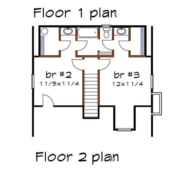 Dream House Plan - Cottage Floor Plan - Upper Floor Plan #79-156