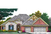Tudor Style House Plan - 3 Beds 2 Baths 1895 Sq/Ft Plan #310-963 Exterior - Front Elevation