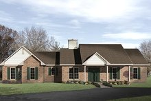 Home Plan - Ranch Exterior - Front Elevation Plan #22-517