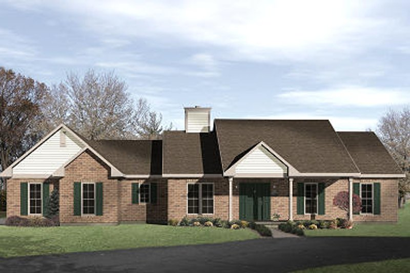 Ranch Exterior - Front Elevation Plan #22-517