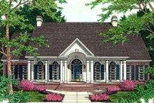 Dream House Plan - European Exterior - Front Elevation Plan #406-188