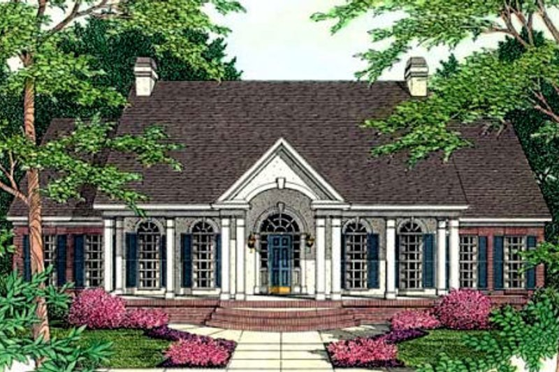 European Exterior - Front Elevation Plan #406-188 - Houseplans.com