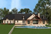 Craftsman Style House Plan - 3 Beds 2.5 Baths 2666 Sq/Ft Plan #119-366 Exterior - Rear Elevation