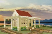 Cottage Style House Plan - 1 Beds 1 Baths 192 Sq/Ft Plan #917-11 Exterior - Front Elevation