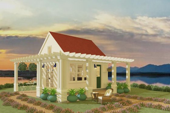 Cottage Exterior - Front Elevation Plan #917-11