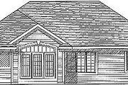 Traditional Style House Plan - 3 Beds 2 Baths 1460 Sq/Ft Plan #70-129 Exterior - Rear Elevation