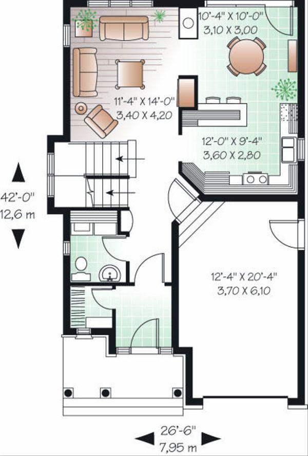 Traditional Floor Plan - Main Floor Plan Plan #23-834