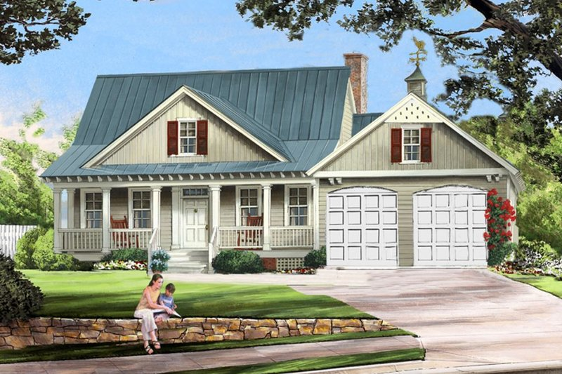 Farmhouse Exterior - Front Elevation Plan #137-273 - Houseplans.com