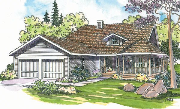 Traditional Exterior - Front Elevation Plan #124-172