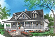Home Plan - Country Exterior - Front Elevation Plan #929-48