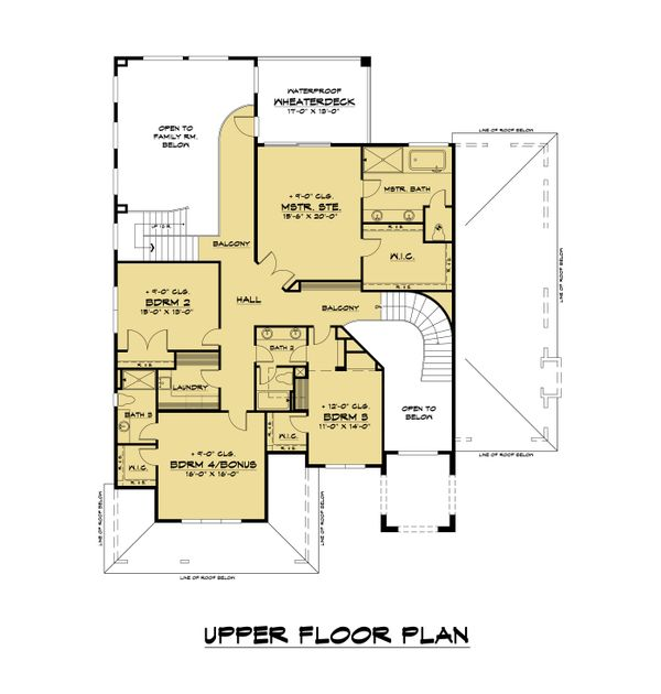 Mediterranean Floor Plan - Upper Floor Plan #1066-108