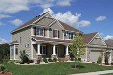 Dream House Plan - Craftsman Exterior - Front Elevation Plan #320-490
