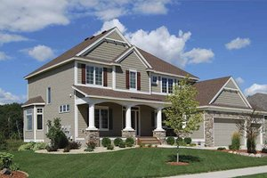 Dream House Plan - Craftsman Exterior - Front Elevation Plan #320-490