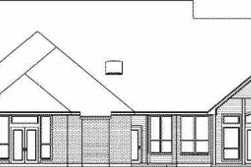 European Exterior - Rear Elevation Plan #84-153 - Houseplans.com