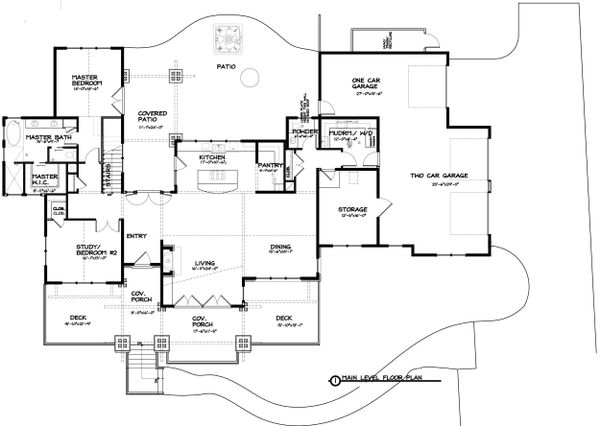 Ranch Floor Plan - Main Floor Plan Plan #895-28