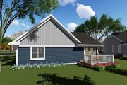 Craftsman Style House Plan - 2 Beds 1 Baths 1069 Sq/Ft Plan #70-1257 Exterior - Rear Elevation