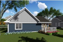 Craftsman Exterior - Rear Elevation Plan #70-1257