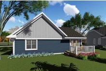 House Plan Design - Craftsman Exterior - Rear Elevation Plan #70-1257