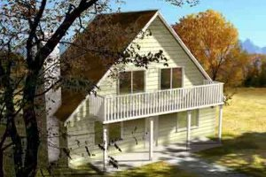 Country Exterior - Front Elevation Plan #1-1254