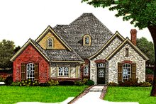Dream House Plan - European Exterior - Front Elevation Plan #310-675
