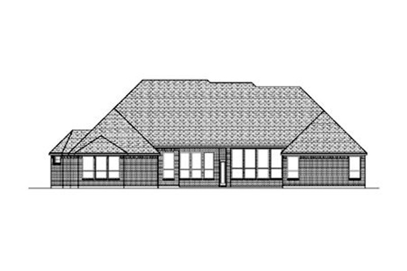 European Exterior - Rear Elevation Plan #84-416 - Houseplans.com