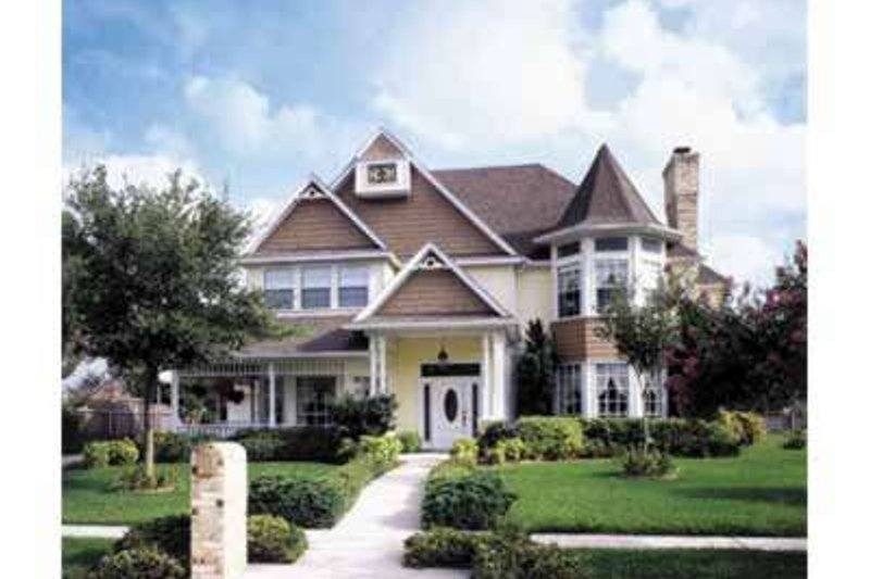 Architectural House Design - Victorian Exterior - Front Elevation Plan #410-407