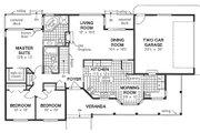 Ranch Style House Plan - 3 Beds 2 Baths 1463 Sq/Ft Plan #18-198 Floor Plan - Main Floor