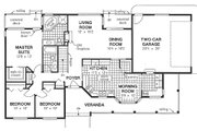 Ranch Style House Plan - 3 Beds 2 Baths 1463 Sq/Ft Plan #18-198