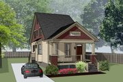 Bungalow Style House Plan - 3 Beds 2.5 Baths 1358 Sq/Ft Plan #79-318