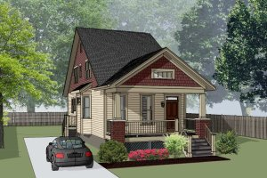 Architectural House Design - Bungalow Exterior - Front Elevation Plan #79-318