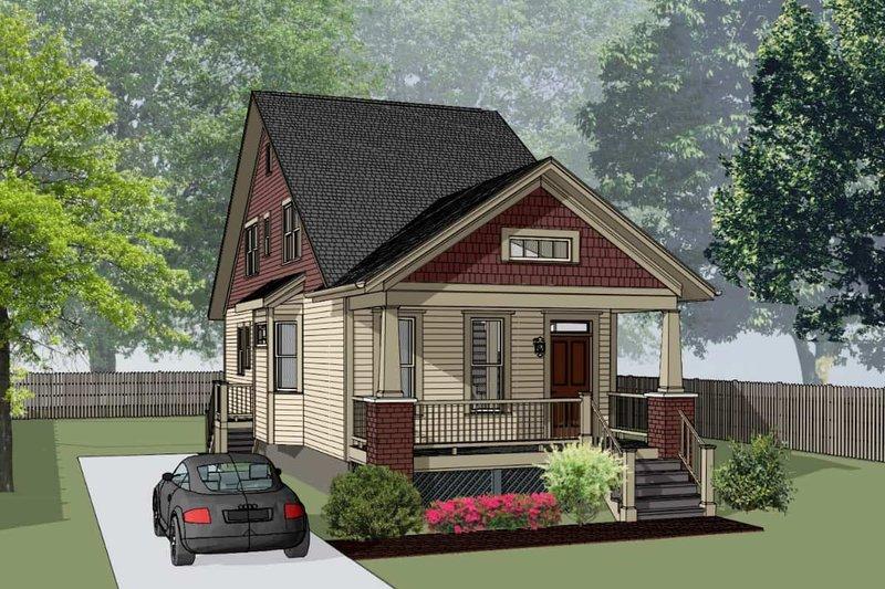 Home Plan - Bungalow Exterior - Front Elevation Plan #79-318