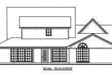 Farmhouse Exterior - Rear Elevation Plan #42-349
