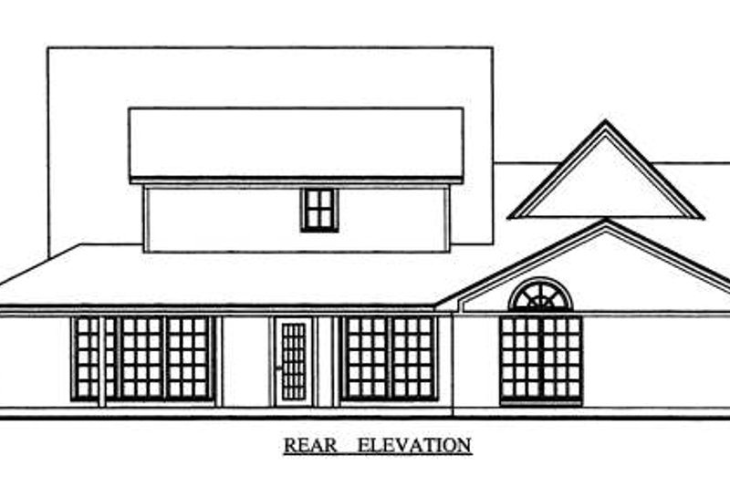 Farmhouse Exterior - Rear Elevation Plan #42-349 - Houseplans.com