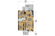 Contemporary Style House Plan - 6 Beds 3 Baths 3666 Sq/Ft Plan #25-4356 Floor Plan - Main Floor Plan