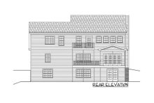 House Plan Design - Country Exterior - Rear Elevation Plan #56-565