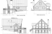 Cabin Style House Plan - 3 Beds 2 Baths 1557 Sq/Ft Plan #100-436 Exterior - Rear Elevation
