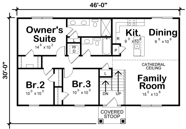 Dream House Plan - Traditional Floor Plan - Main Floor Plan #20-2347